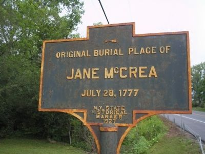 Jane McCrea Marker Photo, Click for full size