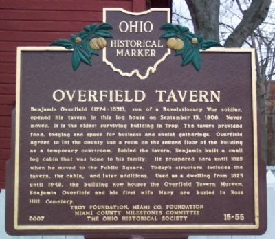 Overfield Tavern Marker image. Click for full size.