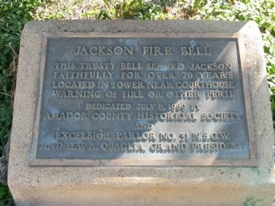 Jackson Fire Bell Marker image. Click for full size.