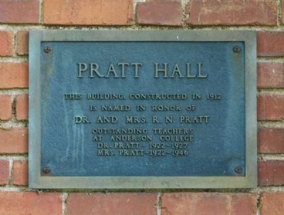 Pratt Hall Marker image. Click for full size.