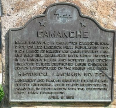 Camanche - Upper Marker Photo, Click for full size