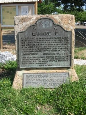Camanche Markers Photo, Click for full size