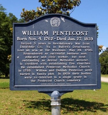 William Pentecost Marker image. Click for full size.