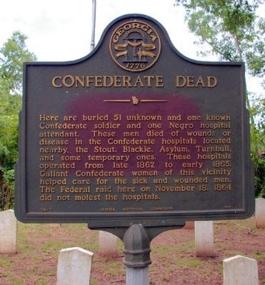 Confederate Dead Marker Photo, Click for full size