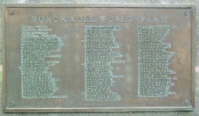 Brandon World War II Honor Roll image. Click for full size.