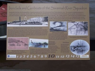 Ironclads and Gunboats of the Savannah River Squadron Marker Photo, Click for full size