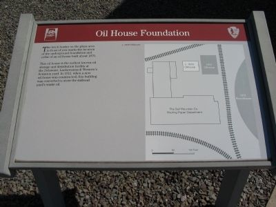 Oil House Foundation Marker Photo, Click for full size
