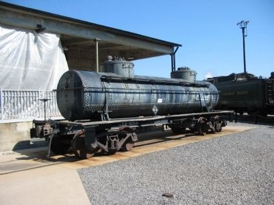 A Tank Car beside the Oil House image. Click for full size.