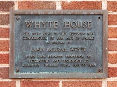 Whyte House Marker image. Click for full size.