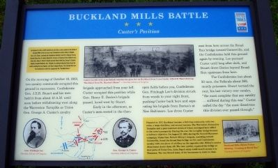 Buckland Mills Battle Marker Photo, Click for full size
