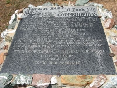 Black Bart at Funk Hill Marker Photo, Click for full size