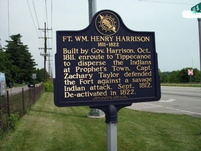Wide View - - Fort William Henry Harrison Marker image. Click for full size.