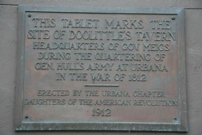 This tablet mark's the Site of Doolittle's Tavern Marker image. Click for full size.