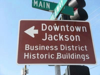 Jackson Historical Main Street Directional Sign image. Click for full size.