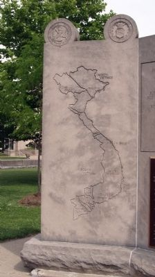 Left Panel - - Vietnam War Memorial - - Vigo County Marker image. Click for full size.