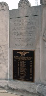 Center Panel - - Vietnam War Memorial - - Vigo County Marker image. Click for full size.