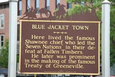 Blue Jacket Town Marker image. Click for full size.