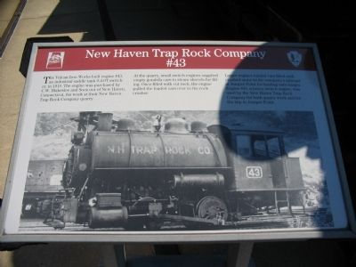 New Haven Trap Rock Company #43 Marker Photo, Click for full size