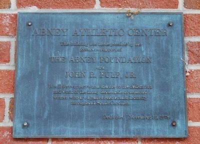 Abney Athletic Center Marker Photo, Click for full size