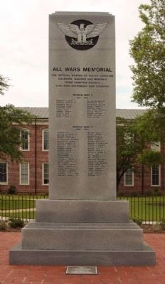 All Wars Memorial Marker, North face image. Click for full size.