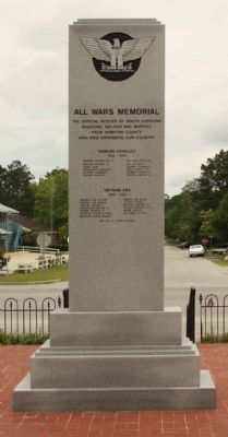 All Wars Memorial Marker, South face image. Click for full size.