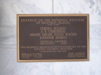 Federal Building and U.S. Courthouse Marker image. Click for full size.