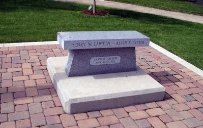 Henry W. Lawton - - Alvin F. Byrum  Memorial Bench Photo, Click for full size
