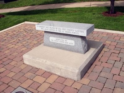 Memorial Bench to All Vigo County Lawyers who Served in Armed Forces Photo, Click for full size