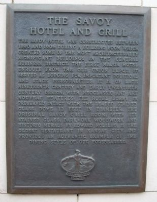 The Savoy Hotel and Grill Marker image. Click for full size.