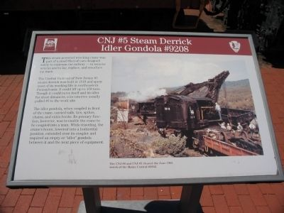 CNJ #5 Steam Derrick Marker image. Click for full size.