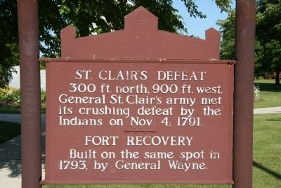 St. Clair's Defeat Marker Photo, Click for full size