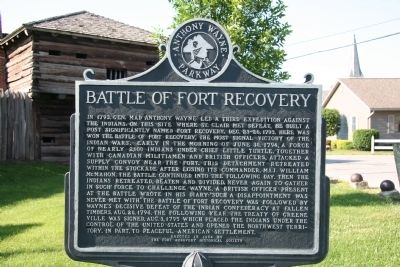 Battle of Fort Recovery Marker Photo, Click for full size