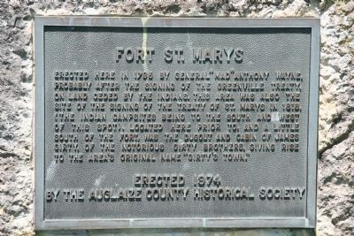 Fort St.. Marys Marker image. Click for full size.