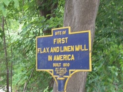 Flax and Linen Mill Marker Photo, Click for full size