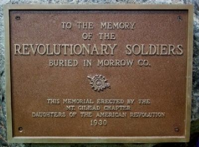 D.A.R. Revolutionary Soldiers Memorial Photo, Click for full size