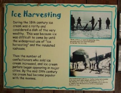 Ice Harvesting Marker Photo, Click for full size