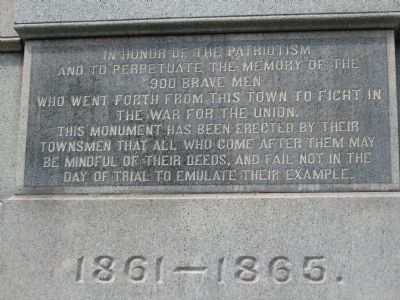 Inscription on the South side image. Click for full size.