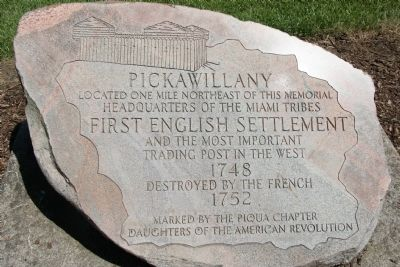 Pickawillany Marker Photo, Click for full size