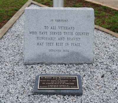 Old Silverbrook Veterans Memorial Marker image. Click for full size.