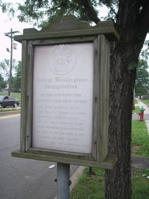 George Washington's Inauguration Marker image. Click for full size.