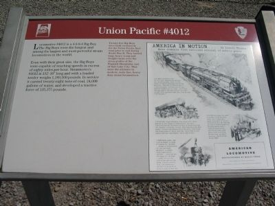Union Pacific #4012 Marker image. Click for full size.