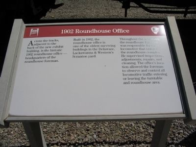 1902 Roundhouse Office Marker image. Click for full size.