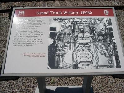 Grand Trunk Western #6039 Marker image. Click for full size.