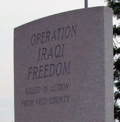 Operation Iraqi Freedom - War Memorial Marker image. Click for full size.