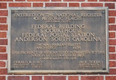 G. Ross Anderson Jr. Federal Building and United States Courthouse Marker Photo, Click for full size