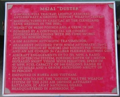"M42A1 ""Duster"" Marker image. Click for full size."