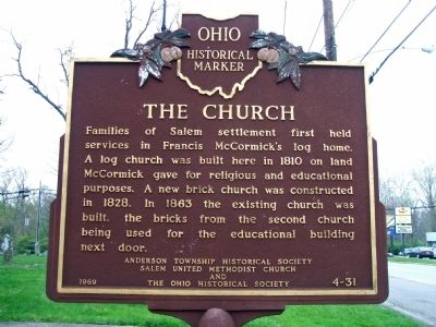 The Founder / The Church Marker image. Click for full size.