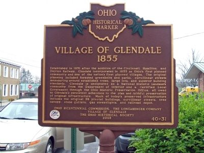 Village of Glendale, 1855 Photo, Click for full size