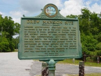 Drew Mansion Site Marker Photo, Click for full size