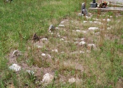 Row of Unmarked Graves Photo, Click for full size